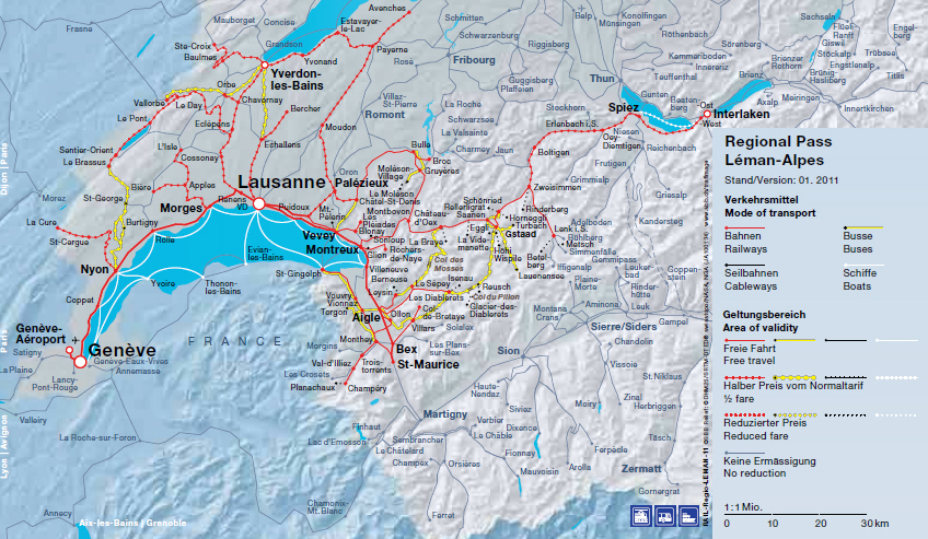 SwissPasses Discounted Swiss Regional Rail Passes Lake – Swiss Travel System Map
